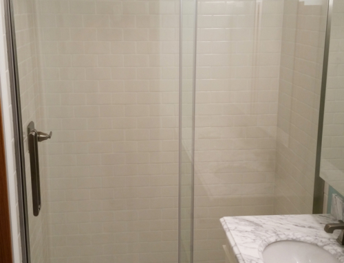 Tile Shower & Door